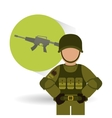 Military icon design vector image