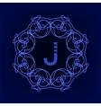 Monogram J vector image vector image