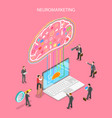neuromarketing digital compaign isometric flat vector image vector image