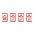 no parking private property vector image vector image