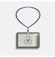office badge icon realistic style vector image