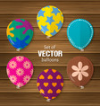 party balloons in flat style vector image vector image