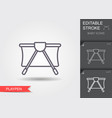 playpen line icon with editable stroke vector image vector image