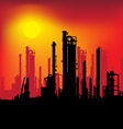 refinery plant vector image