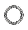 round frame made realistic white diamonds vector image