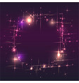 round shiny lights dust trail particles frame on vector image