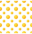 seamless pattern from coins bitcoins of gold vector image vector image