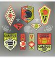 Set of emblems ollege sport team rugby vector image vector image