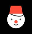 snowman merry christmas icon set flat design vector image vector image