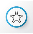 starfish icon symbol premium quality isolated sea vector image vector image