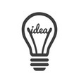 stylized sign lightbulb logotype new idea vector image