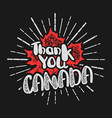 thanksgiving day in canada maple leaf stamp vector image vector image