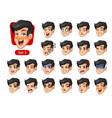 the third set of male facial emotions vector image vector image