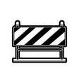 traffic barrier flat icon black silhouette vector image vector image