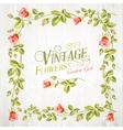Vintage flower frame vector image