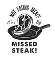 vintage steak house logo vector image vector image