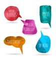 Watercolor speech bubbles vector image vector image