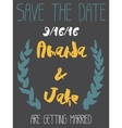 Wedding Save the Date Invitation Card vector image