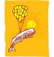 Whale Balloon vector image vector image