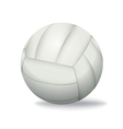 White Volleyball Isolated on a White Background vector image vector image