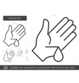 Wound line icon vector image vector image