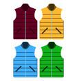 black color autumn fleece vest and jacket set vector image