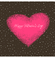 valentines card with space for text vector image