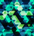 urban triangle seamless pattern with grunge effect vector image