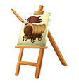 A painting of a wooden carriage vector image vector image