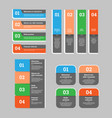 a set of web design elements - speech banners vector image