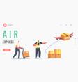 air express landing page template aircraft vector image