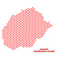 alegranza island map - mosaic of heart hearts vector image vector image