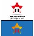 Alphabet icon M logo vector image vector image