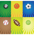 balls for sport games vector image vector image
