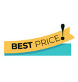 best price and special offer tag discount vector image vector image