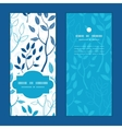 blue forest vertical frame pattern vector image
