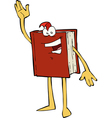 book waving vector image vector image