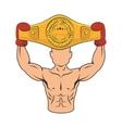 boxer silhouette avatar icon vector image