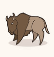 buffalo bison graphic vector image vector image