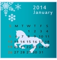 calendar 2014 january vector image vector image