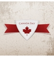 Canada Day festive red Emblem vector image vector image