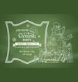 chalk christmas invitation on green blackboard vector image vector image