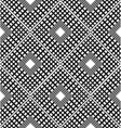Checkered black and white pattern with rhombuses vector image vector image
