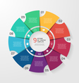 circle infographic 9 options vector image