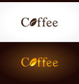 coffee company logo vector image vector image