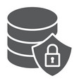 database protection glyph icon data and analytics vector image vector image