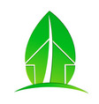 ecological house with environmental leaf vector image vector image