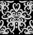 ethnic style floral black and white seamless vector image vector image