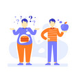 fat and slim men thick and thin male person vector image