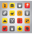 Flat and stylish design icon set vector image